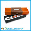 Good quality handmade paper pen box with printed logo