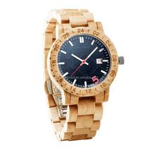 2015 Newest design wholesale waterproof cheap wooden watch