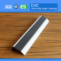High quality Durable Anti-slip Aluminum Tile Edging Stair Nosing Profile with Pvc Insert