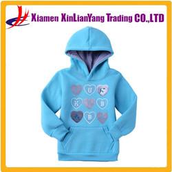 warm fleece girl hooded Australian brand kids clothing autumn long-sleeved sweater European and American girls heart pattern