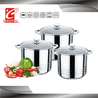 kitchenware restaurant soup pot stainless steel container with lid