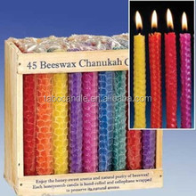 Natural bees wax rolled pillar candle