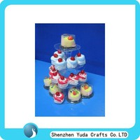 Acrylic plastic mini cheap acrylic cupcake holder wedding cake pop stand