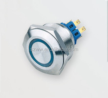 28mm Electrical Stainless steel light push button switch