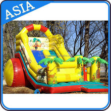 Giant Inflatable Dry Slide In Single Lane For Outdoor Children Games