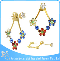 ZS20297 Fashionable gold plated jewelry indian wholesale polki jhumka earrings