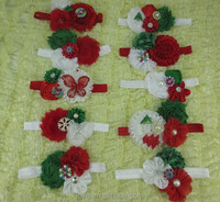 Infant toddler Assorted styles Baby Girls Christmas Flower Headbands