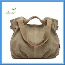 Retro Washed Canvas Handbag Cross Body Shoulder Tote Bag