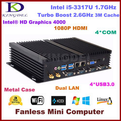 Core i5 3317U Ultra Compact Mini PC Barebone Support 2.5-Inch HDD & SSD