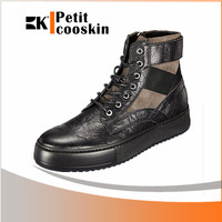 Casual boots long footwear high cut leather men shoes men spike shoes