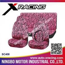 XRACING SC408 car seat cover,purple car seat covers,zebra car seat covers
