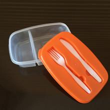 bon marché de gros de cuisine enfants boîte à lunch en plastique avec une fourchette et une cuillère