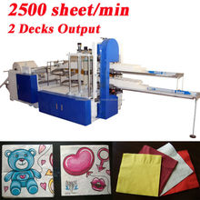 Copy Italy Design Fastest 2500 Piece Per Minute Embossing Printing High Speed Automatic Serviette Paper Converting Machine