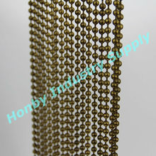 Antique bronze custom-size ball chain partition curtain room divider