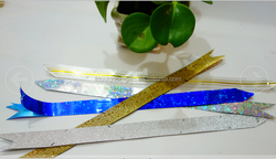 blue gold white sliver gift wrapping PP star pull bows