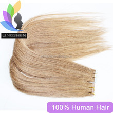Pu Hair Weft, High Quality Remy 100% Human Tape Weft Indian Hair Extension