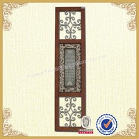 Special wall plaque carved wooden wall plaque with scroll work