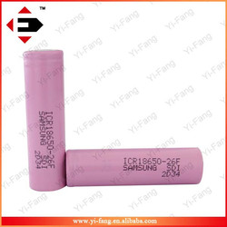 High 2600mah 18650 Rechargeable Flat Top 3.7V Battery For Electronic Cigarette