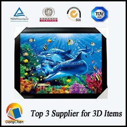 high resolution 3d framed picture carton for kids room decoration