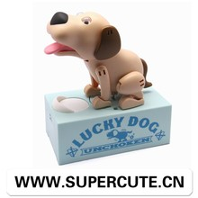 Cute Creative ABS Yellow color dog shape piggy banks for sale