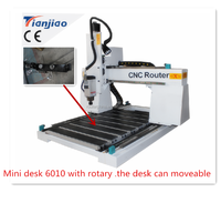 high precision 4 axis mini cnc router 6010/6090 with rotary 700*100mm