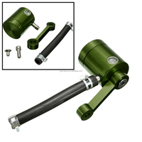 2015 Brand New Green Aluminum Motorcycle Front Brake Fluid Reservoir Pump Fit for Universal