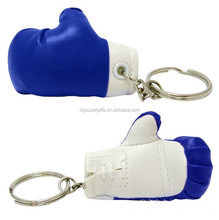 hot sale promotional gift PU mini boxing gloves key chain factory in china