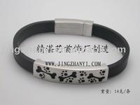 925 silver leather bracelet,fashion bracelet with Flower design