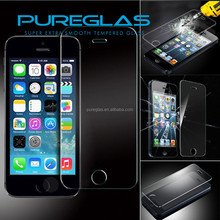 Pureglas Glass mobile phone protective film/tempered glass screen protector for iphone 5/5s