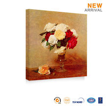 Chinese Watercolor Flower Picture Oil Painting Red Rose