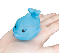 Custom rubber floating dolphin PVC bath toys OEM soft toys for children non-toxic pvc bath toys