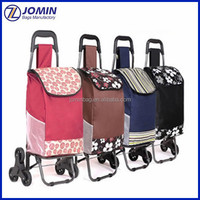 China factory wholesale insulated vegetable shopping bag trolley, large market trolley bag
