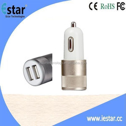 5V 2A car usb charger with Aluminum case for Mobiles