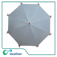 white color with red ribbon on ribs unique umbrella for gril