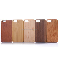 Mobile accessories natural wood or bamboo + PC hard back cover hybrid case for iphone 6 plus/6s plus wood case made in china