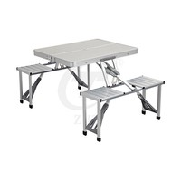 Portable Camping Aluminum Folding Table and Chair Set