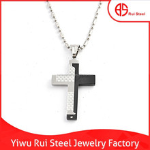 fashion 316l stainless steel mens punk rock cross religious charm hiphop jewelry