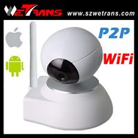 New product 10m IR Distance P2P and 64CH Alarm 1280*720P wifi IP camera with i/o alarm port