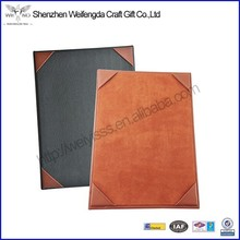 High Quality Single Panel PU Leather Menu Cover