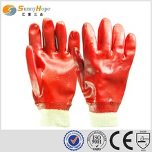 sunnyhope red interlock or jersey liner pvc gloves