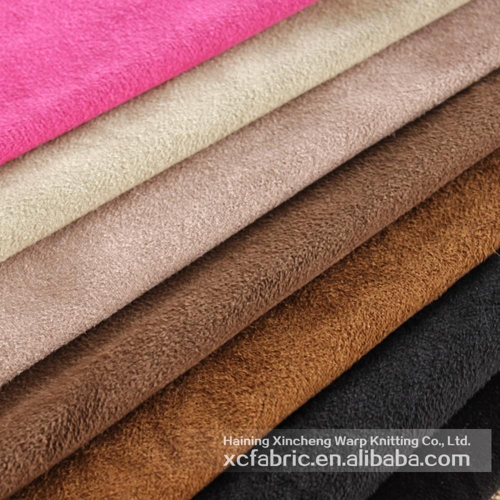 100 polyester bross en daim tissu d 39 ameublement pour jouet canap t - Tissu d ameublement pour canape ...