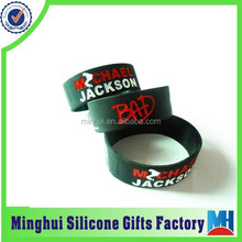 super music star Michael Jackson engraved color filled silicone wristband