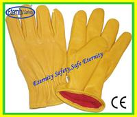 Grain and Split Combination work glove/cow grain leather safety glove