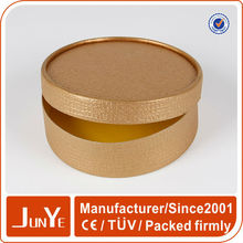 Cardboard tube birthday gold gift box