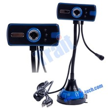high resolution 10 Mega Pixel PC Laptop Camera Webcam with Microphone and LED light