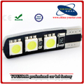 dc 12v t10 led blanco luces 6 smd 5050 smd t10 canbus auto bombillas