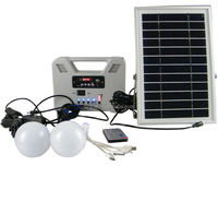 Light Green Energy Saving Portable Solar Powered System LED Power