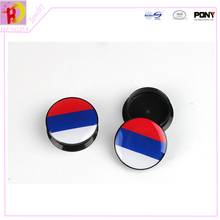 The national flag series Russia Resin round mixed size Ear Tunnels piercing Gauges Plugs body jewelry EKW09