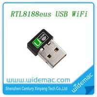 802.11 B/G/N Realtek RTL8188eus Chipset USB WiFi Adapter Mini 150Mbps USB WiFi Dongle