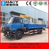 small telescopic boom truck with crane with radio control for sale